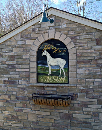 Outside wall of the White Horse Country Pub & Restaurant, New Preston, CT
