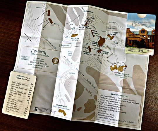 Cranwell Resort, Spa, and Golf Club Keycard Holder with Fold-Out Map
