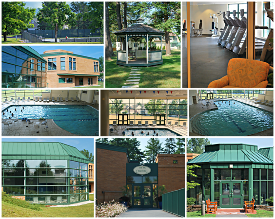 Collage of the Spa Area at the Cranwell Resort, Spa, and Golf Club