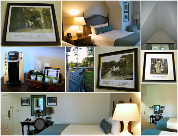 Collage of Room #311 in the Carriage House at the Cranwell Resort, Spa, and Golf Club