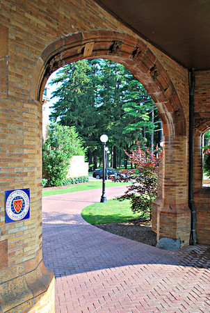 Porte-cochère of the Mansion at the Cranwell Resort, Spa, and Golf Club