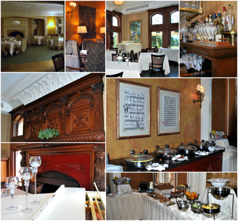 Collage of the Music Room in the Mansion at the Cranwell Resort, Spa, and Golf Club
