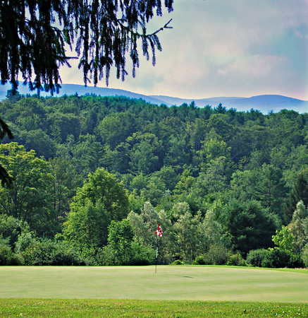 Golf Course and View from the Mansion at the Cranwell Resort, Spa, and Golf Club