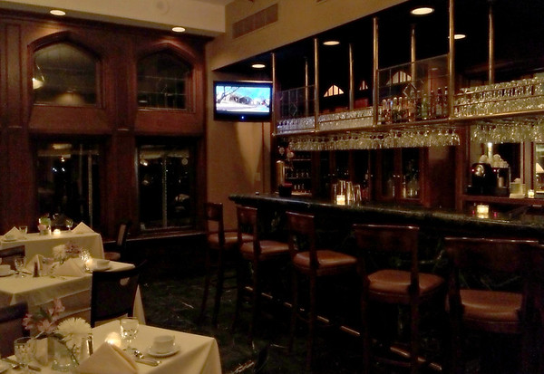 The Music Room Bar at Night in the Mansion at the Cranwell Resort, Spa, and Golf Cub