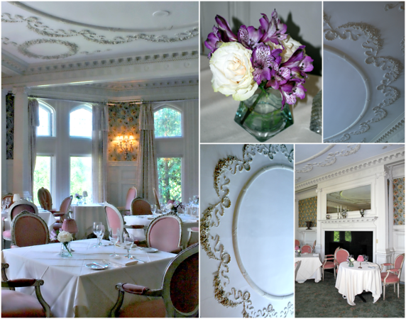 Collage of the Wyndhurst Dining Room in the Mansion at the Cranwell Resort, Spa, and Golf Club