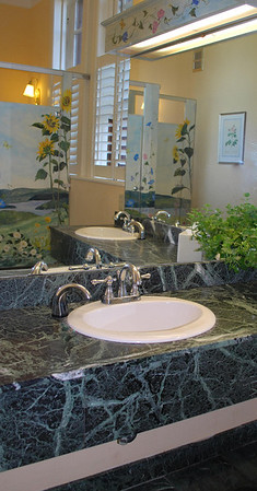Vanity of the Ladies Room in the Mansion of the Cranwell Resort, Spa, and Golf Club