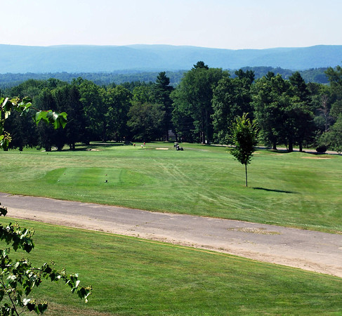 View of the Golf Course from the Ballroom of the Mansion at the Cranwell Resort, Spa, and Golf Club