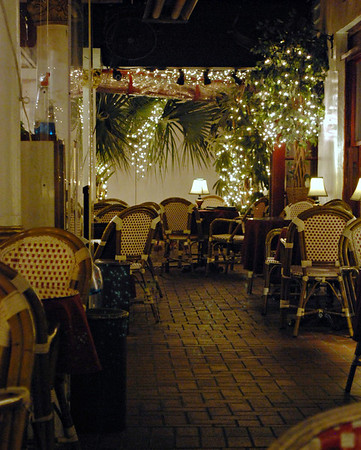 Porch seating at the Casablanca Inn