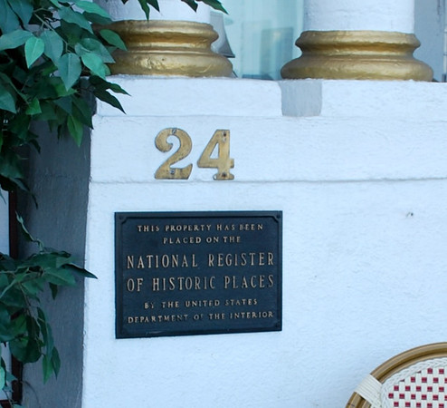 National Register of Historic Places Plaque at the Casablanca Inn