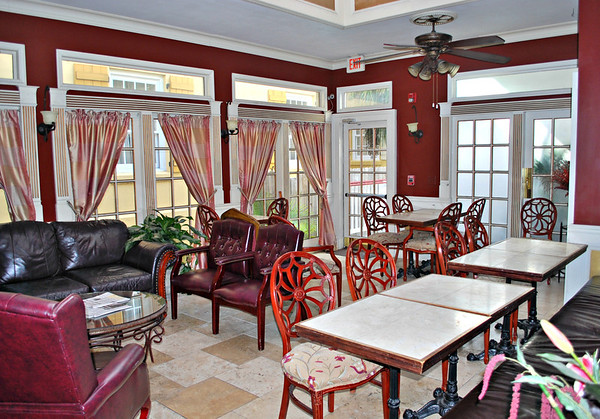 Indoor Dining Area of the Casablanca Inn