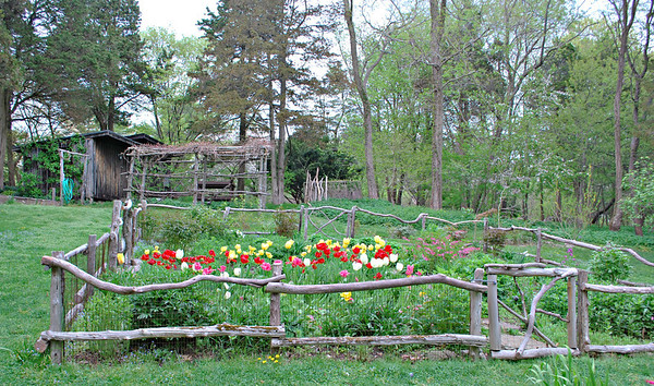 Flower beds at Long Hill