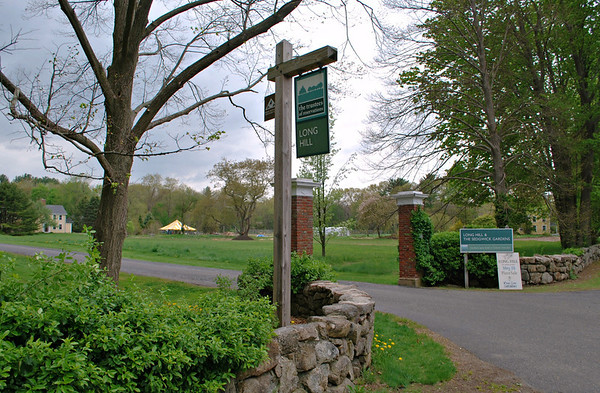 Front entrance at Long Hill and The Sedgwick Gardens
