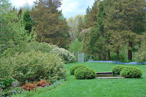 Koi Pond and Croquet Lawn at Long Hill