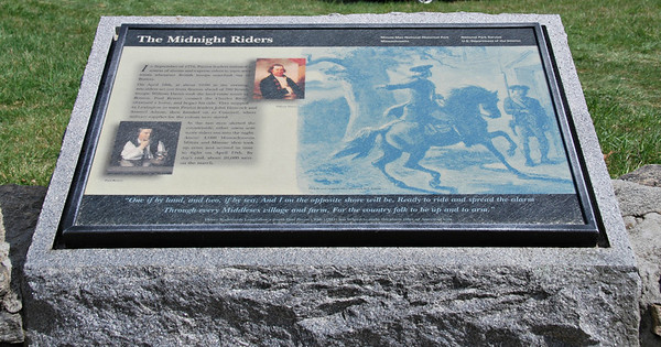 The Midnight Riders Plaque at the  Paul Revere Capture Site, Minute Man NHP