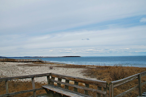 Bench overlooking Crane Beach