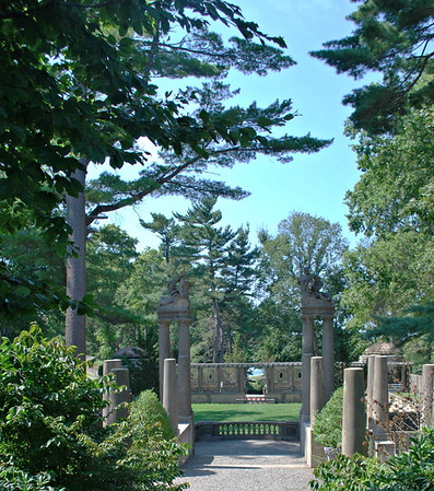Entrance to the Formal Gardens at the Crane Estate