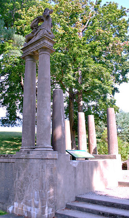 Pillars at the Formal Gardens