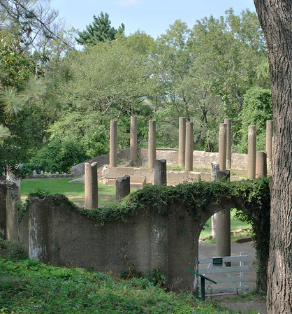 A Garden of Pillars on the Crane Estate
