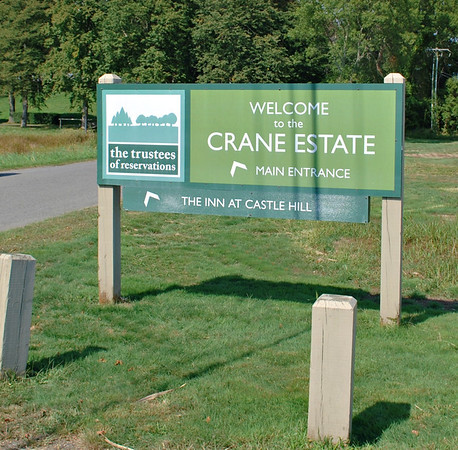 Entrance Sign to the Crane Estate