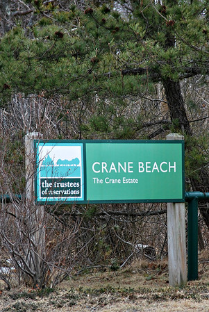 Sign for the Crane Beach