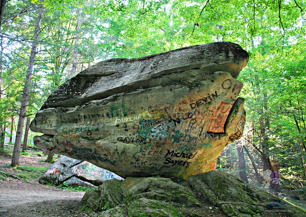 The side of Balance Rock